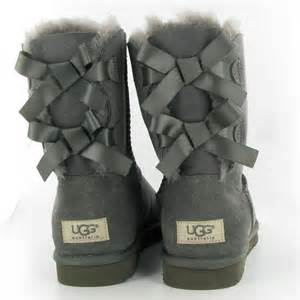 womens ugg boots with bows on the back gray uggs with bows on the back