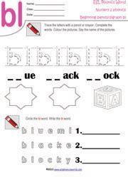 beginning consonant blend worksheets  letter blend