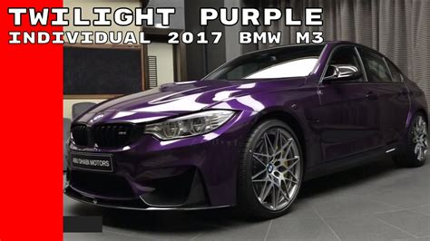 Twilight Purple Individual 2017 Bmw M3 Competition Package