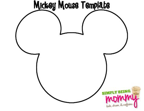 Mickey Mouse Shape Template by Diy Bleached Mickey Mouse Shirt Simply Being