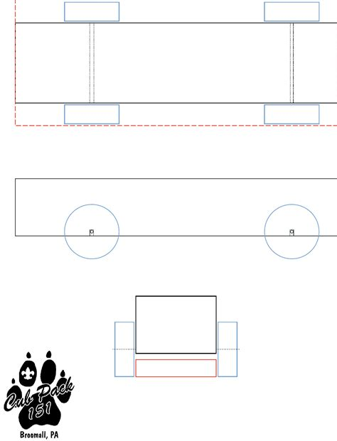 pinewood derby car template  kb  pages