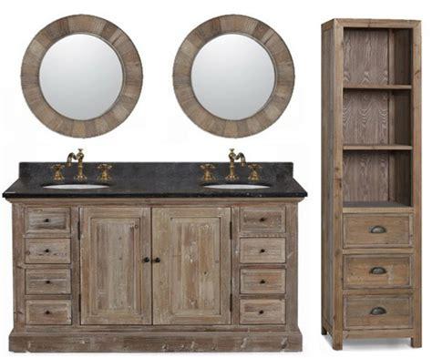 60 Inch Rustic Double Sink Bathroom Vanity Wk1860, Marble Top