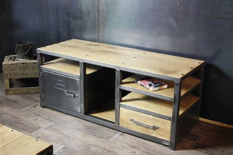 meuble industriel bois m 233 tal sur mesure meubles et
