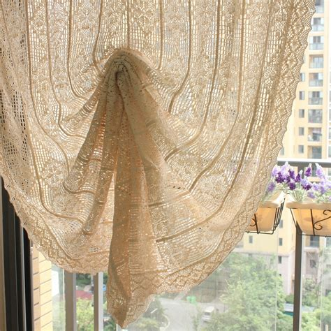 vintage style crochet curtains cotton handmade