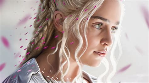 wallpaper daenerys targaryen emilia clarke hd  tv