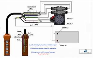 Dual-double-acting-hydraulic-cylinder-power-units-wiring-diagram-drawing
