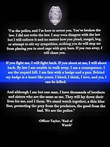 "Police quote from movie ""End of Watch"" 