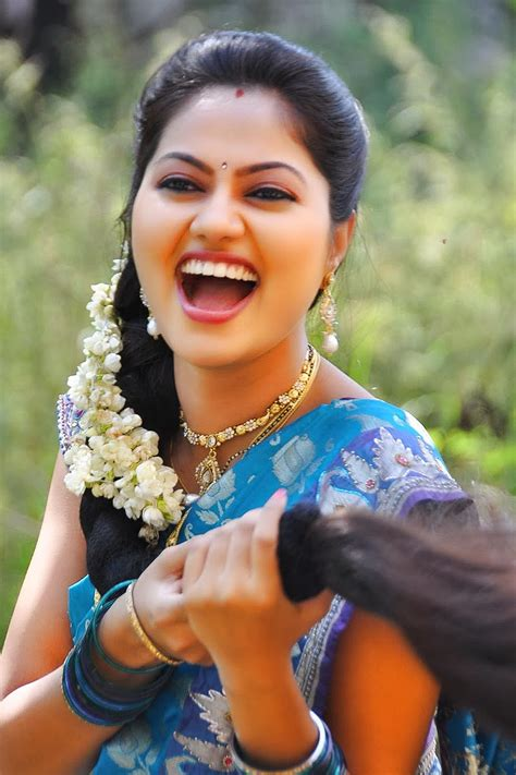 gsv pics   poetry cute south indian actress suhashini  blue saree latest photo