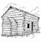 Coloring Pages Cabin Log Printable Lincoln Clipart Adults Sheet Sheets Bing Books Popular Clip Library Coloringhome Hut sketch template