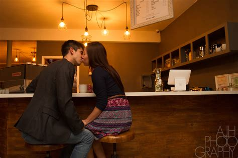coffee shop engagement photography david daphne ajh