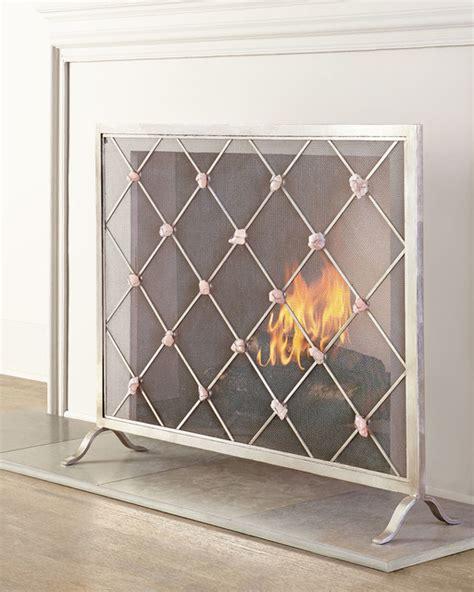 giallastro quartz accent fireplace screen contemporary