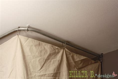 how to hang a curtain from the ceiling killer b designs