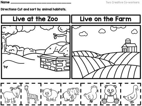 36 preschool animal worksheets albertcoward co zoo