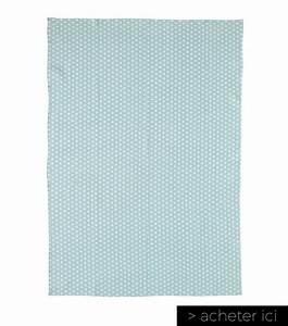 Finest Tapis Scandinave En Coton Bleu Origami Maisons Du