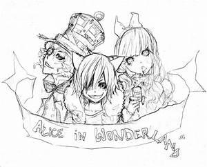 Alice Wonderland Drawings | Alice In Wonderland Drawings ...