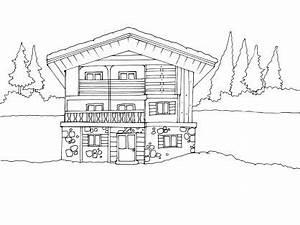 coloriage maison 12 tipos de vivienda pinterest With dessin de maison en bois