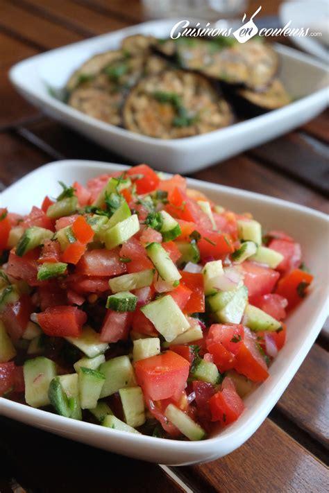 vinaigre d alcool cuisine chlada salade de tomates et concombre à la marocaine