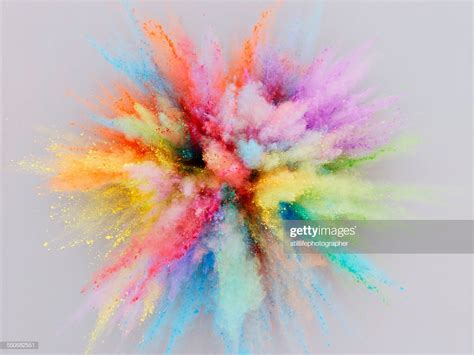 colorful picture colorful powder explosion stock photo getty images