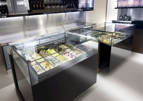 jewelry display case frozen dessert  pastry display