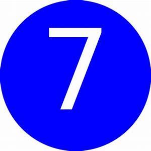 Number 7 Blue Background Clip Art at Clker.com - vector ...