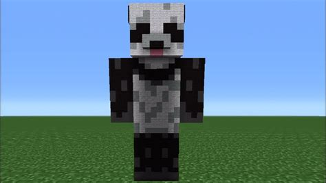 minecraft  giant panda statue tutorial battle  beasts skin pack youtube