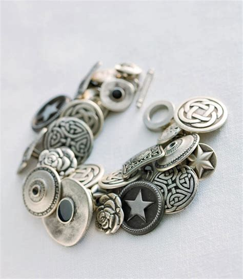 How To Make A Button Bracelet  Button Jewlery Crafts