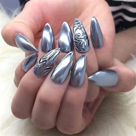 chrome nail designs beautiful metallic chrome nail designs tutorial step