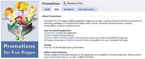 facebook fan page promotion sweepstakes and contests are on wildfire