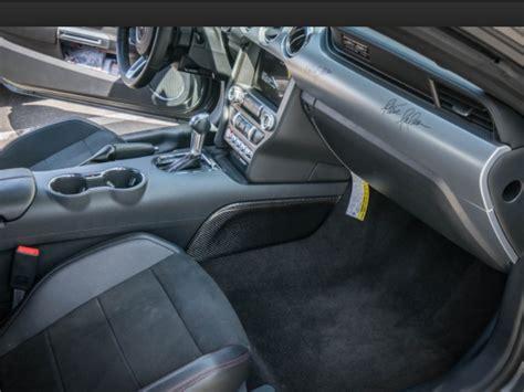 mustang carbon fiber center console side panels