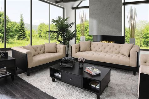 contemporary sofa with wood sides and backing in
