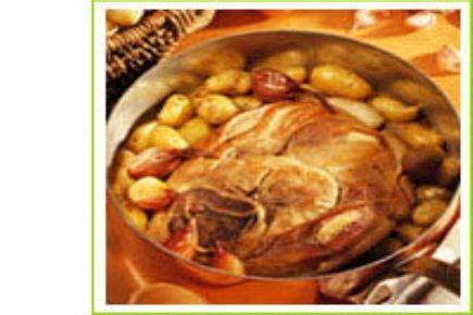 recette rouelle de veau aux rattes