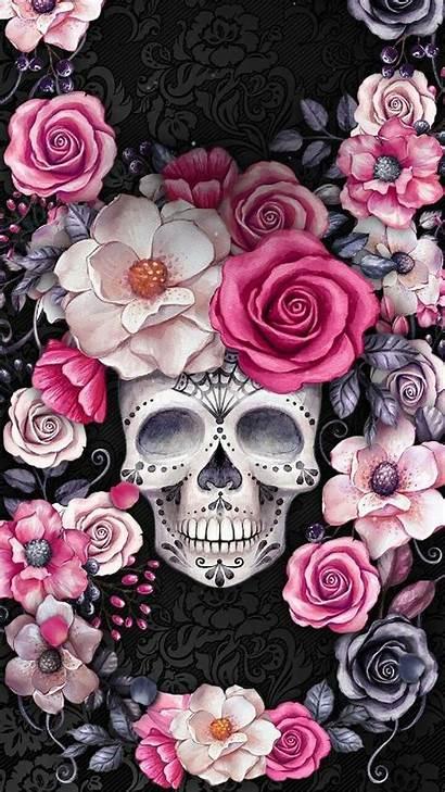 Skull Rose Desktop Wallpapers Roses Sugar Iphone