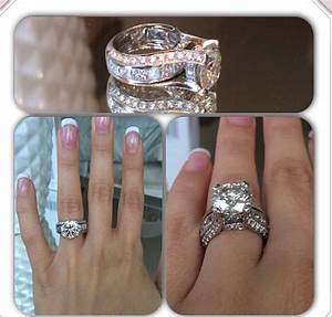 wedding rings big diamond wedding ring sets 2 piece With big diamond wedding ring sets
