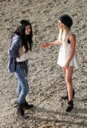 SELENA GOMEZ and ASHLEY TISDALE on the Set of Getaway in ...