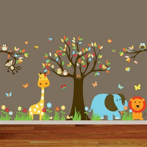 Wallpaper With Animals For Rooms - animal wall mural for nursery room decor wallpaper mural