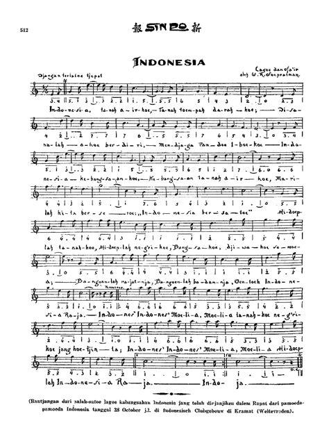 not angka lagu indonesia pusaka indonesia raya hymne national wikiwand