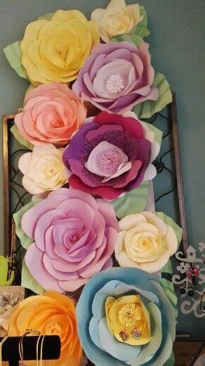 Fiori Giganti Di Carta by Pannello Fiori Giganti Di Carta Mie Creazioni Flores