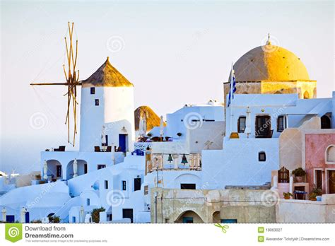 Oia City View Santorini Stock Image Image Of Town