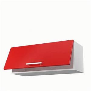 Meuble Cuisine Rouge Laqué : meuble cuisine haut rouge pr l vement d 39 chantillons et une bonne id e de ~ Teatrodelosmanantiales.com Idées de Décoration