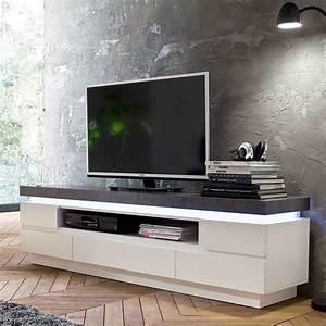 Tv Lowboard Led : tv lowboard mit led beleuchtung wei grau eidi24 ~ Indierocktalk.com Haus und Dekorationen
