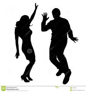 People Dancing Silhouette