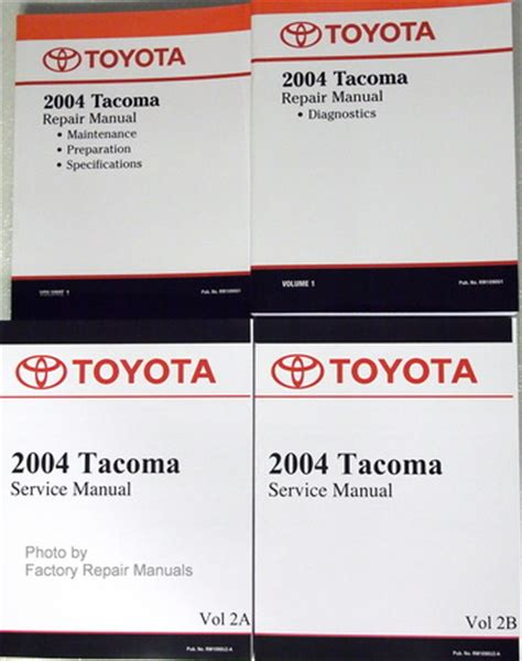 online auto repair manual 1996 toyota tacoma windshield wipe control 2004 toyota tacoma factory service manual set original shop repair factory repair manuals