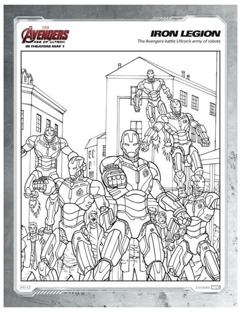 marvel avengers iron legion coloring page disney