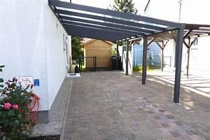 Carport Pultdach Neigung : anbaucarport aus aluminium typ g deluxe mit glasdach ~ Whattoseeinmadrid.com Haus und Dekorationen
