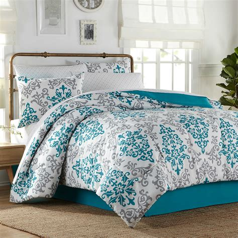 turquoise comforter set carina 6 8 piece complete comforter set in turquoise bedbathandbeyond com for the home