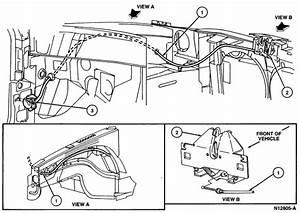 Ford Escort Hood Latch Diagram