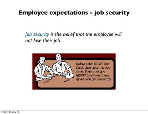 employee expectations employee expectations security