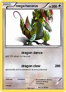 Pokémon mega haxorus 8 8 - dragon dance - My Pokemon Card