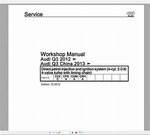 Audi Q3  Typ 8u  2011 U20132018 Workshop Manuals Wiring