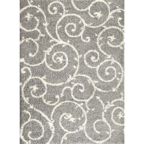 gray white rug world rug gallery soft cozy contemporary scroll light gray